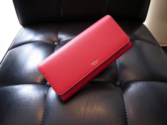 DETAIL MULBERRY ENGLAND CONTINENTAL WALLET SCARLET_f0111683_12425943.jpg