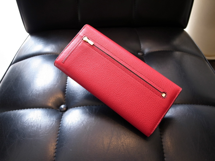 DETAIL MULBERRY ENGLAND CONTINENTAL WALLET SCARLET_f0111683_12430696.jpg