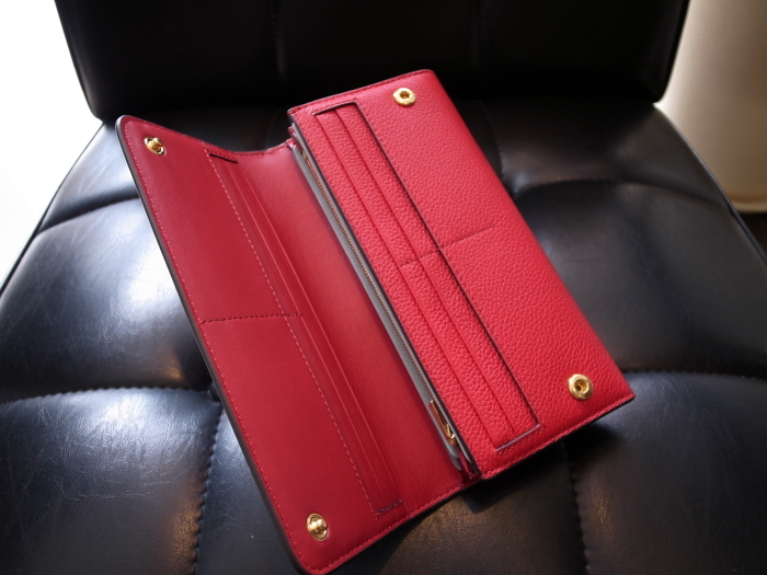 DETAIL MULBERRY ENGLAND CONTINENTAL WALLET SCARLET_f0111683_12432357.jpg