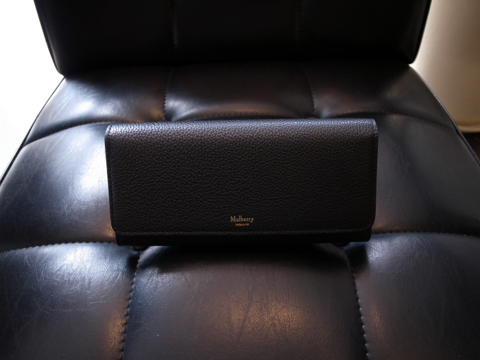 DETAIL MULBERRY ENGLAND CONTINENTAL WALLET BLACK_f0111683_12530108.jpg