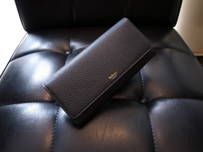 DETAIL MULBERRY ENGLAND CONTINENTAL WALLET BLACK_f0111683_12530706.jpg