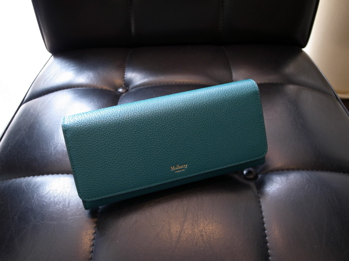 DETAIL MULBERRY ENGLAND CONTINENTAL WALLET OCEAN GREEN_f0111683_12553272.jpg
