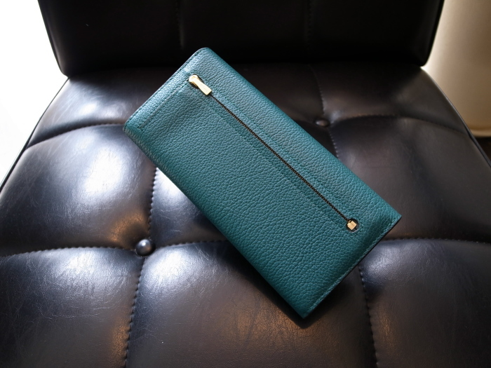 DETAIL MULBERRY ENGLAND CONTINENTAL WALLET OCEAN GREEN_f0111683_12553857.jpg