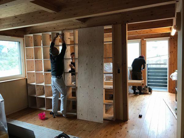 子供室造作工事。_b0131012_19335056.jpg