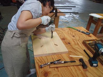 DIY学校上級コース『スツール』完成!!_b0211845_10554070.jpg