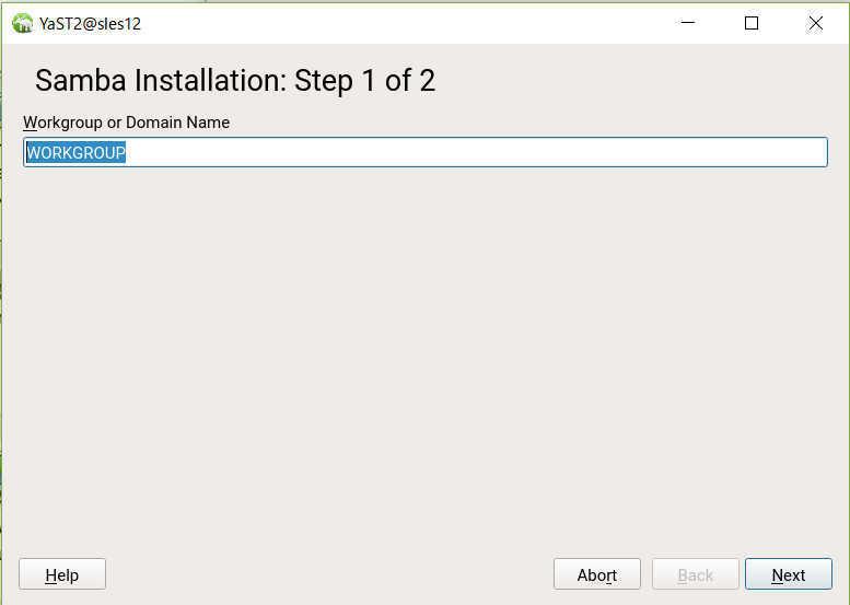 SUSE Linux (SLES12)で YaST を使った samba の導入_a0056607_14150216.jpg