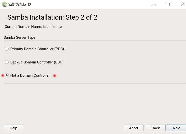 SUSE Linux (SLES12)で YaST を使った samba の導入_a0056607_14152828.jpg
