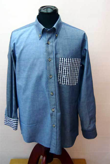 ダンガリ ブルーパッチワークシャツ_a0110103_10584767.jpg