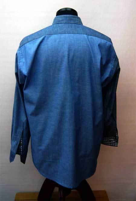 ダンガリ ブルーパッチワークシャツ_a0110103_10590397.jpg