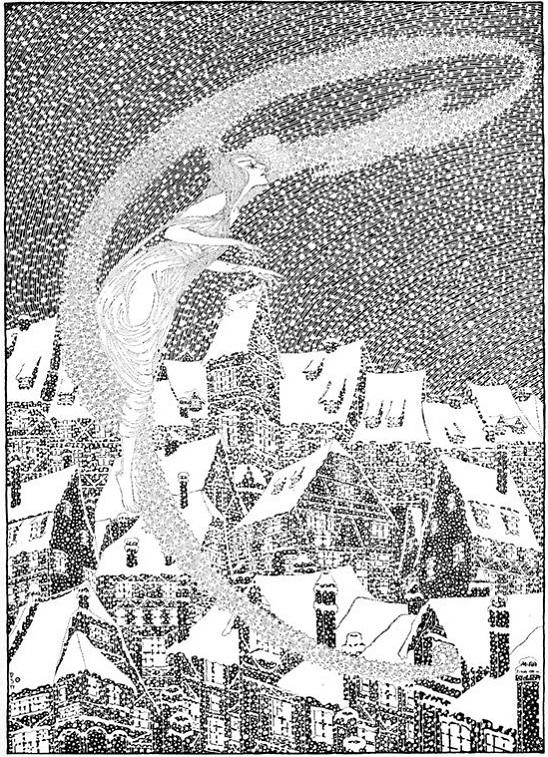 Dugald Stewart Walker画の雪の女王_c0084183_1221036.jpg