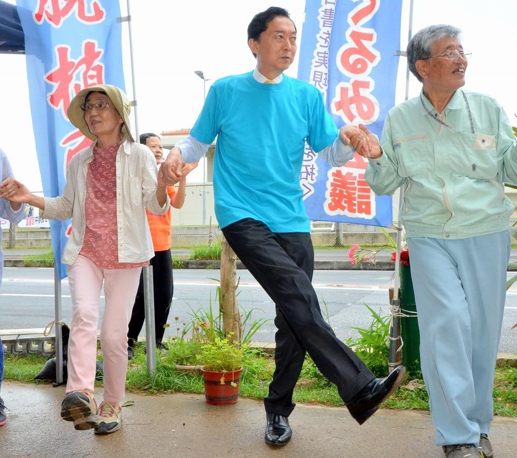鳩山元首相(資産数千億円)、沖縄で庶民と一緒に座り込み_b0163004_06455377.jpg