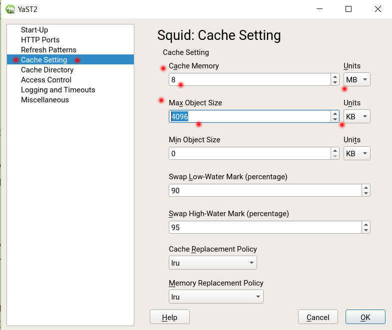 SUSE Linux 12 (SLES12 sp3) で YaST から Squid3 を導入、設定_a0056607_12272542.jpg