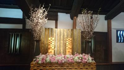 博多百年蔵  会場装花((ピンク可愛く❤︎)_e0149863_23414565.jpg