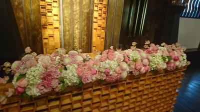 博多百年蔵  会場装花((ピンク可愛く❤︎)_e0149863_23415791.jpg