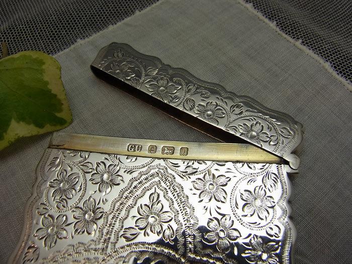 美しいシルバー・カードケース.........George Unite_d0127182_16013611.jpg