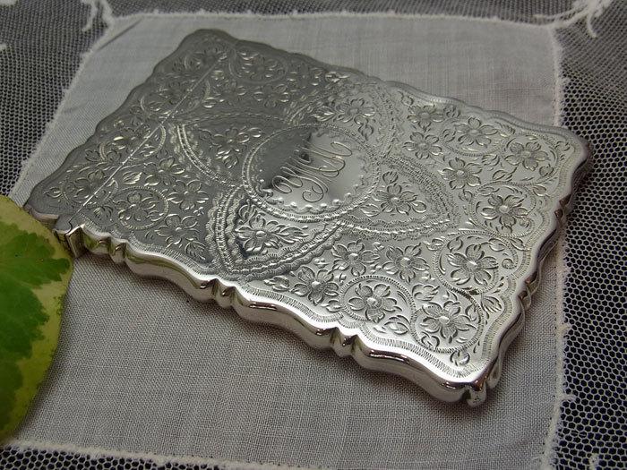 美しいシルバー・カードケース.........George Unite_d0127182_16014611.jpg