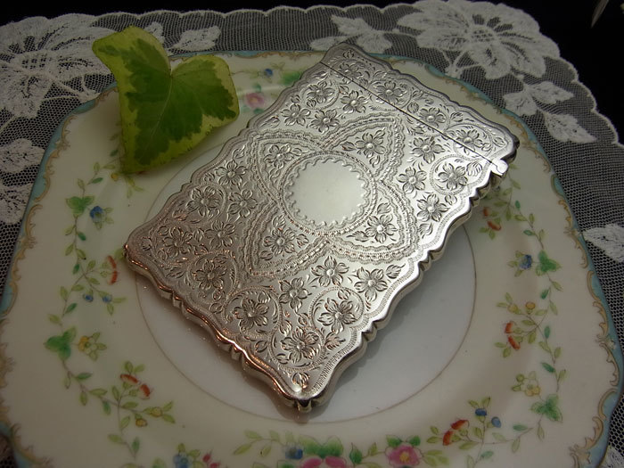 美しいシルバー・カードケース.........George Unite_d0127182_16020845.jpg