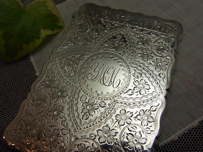 美しいシルバー・カードケース.........George Unite_d0127182_16021557.jpg