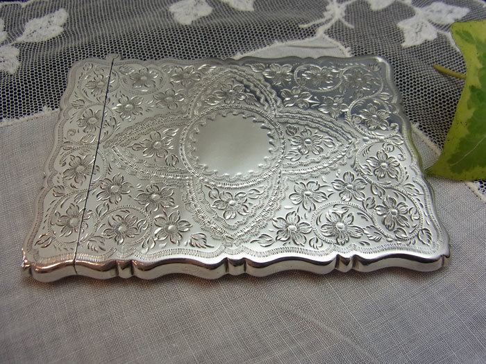美しいシルバー・カードケース.........George Unite_d0127182_16022305.jpg