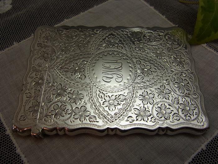 美しいシルバー・カードケース.........George Unite_d0127182_16023861.jpg