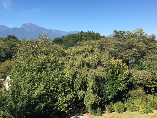 10月1日 快晴の甲斐駒ヶ岳。紅葉🍁は、山頂から中腹まできてます。_d0338282_09595697.jpg