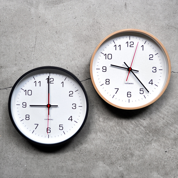 加藤木工  別注 plywood wall clock_d0193211_15531683.jpg