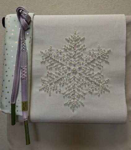 雪の結晶八寸+石下結城紬+小物・サローネ荷物発送。_f0181251_18303013.jpg