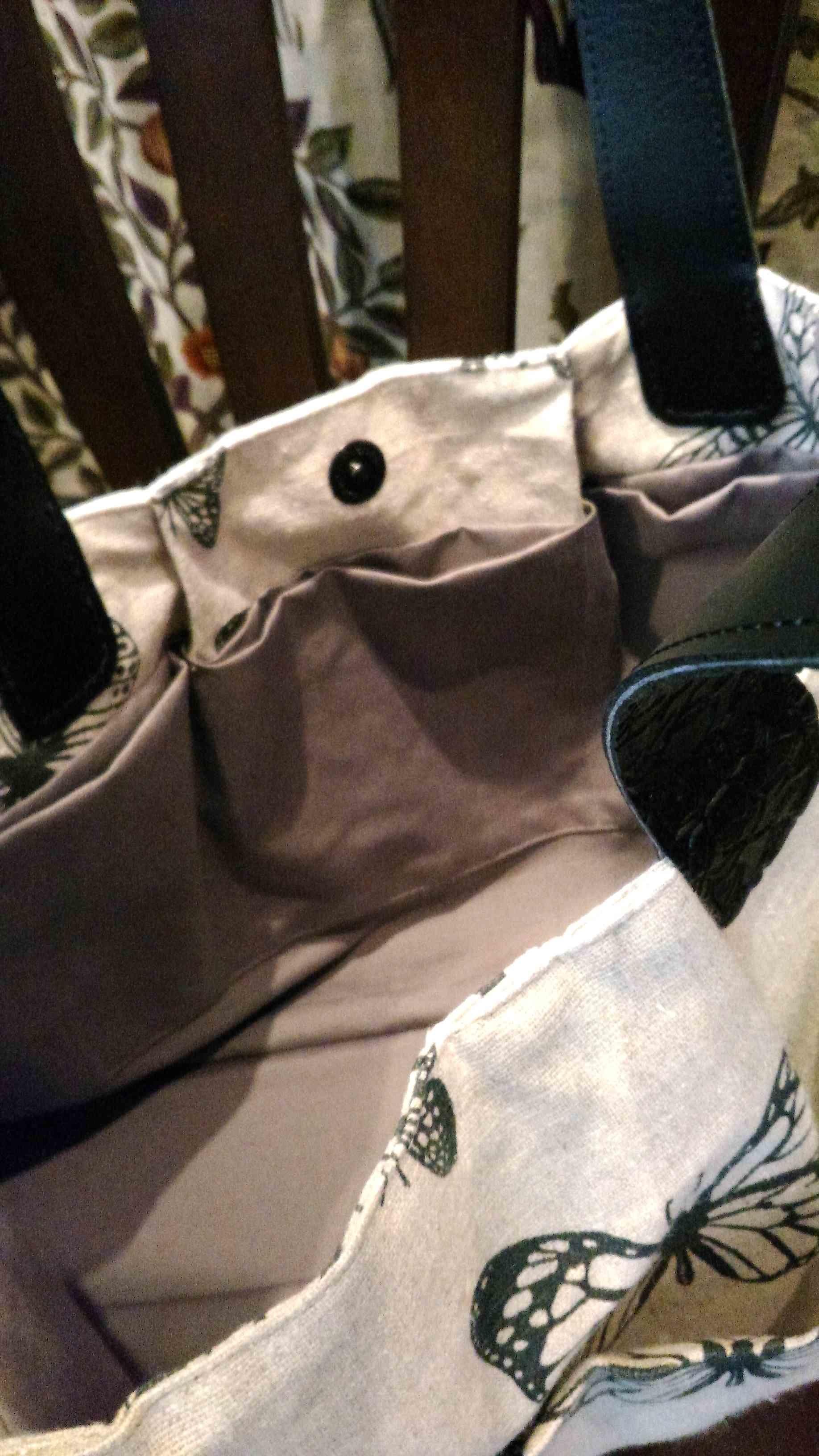 カーテン生地で作る布バッグ クラーク&クラーク_c0157866_20300793.jpg