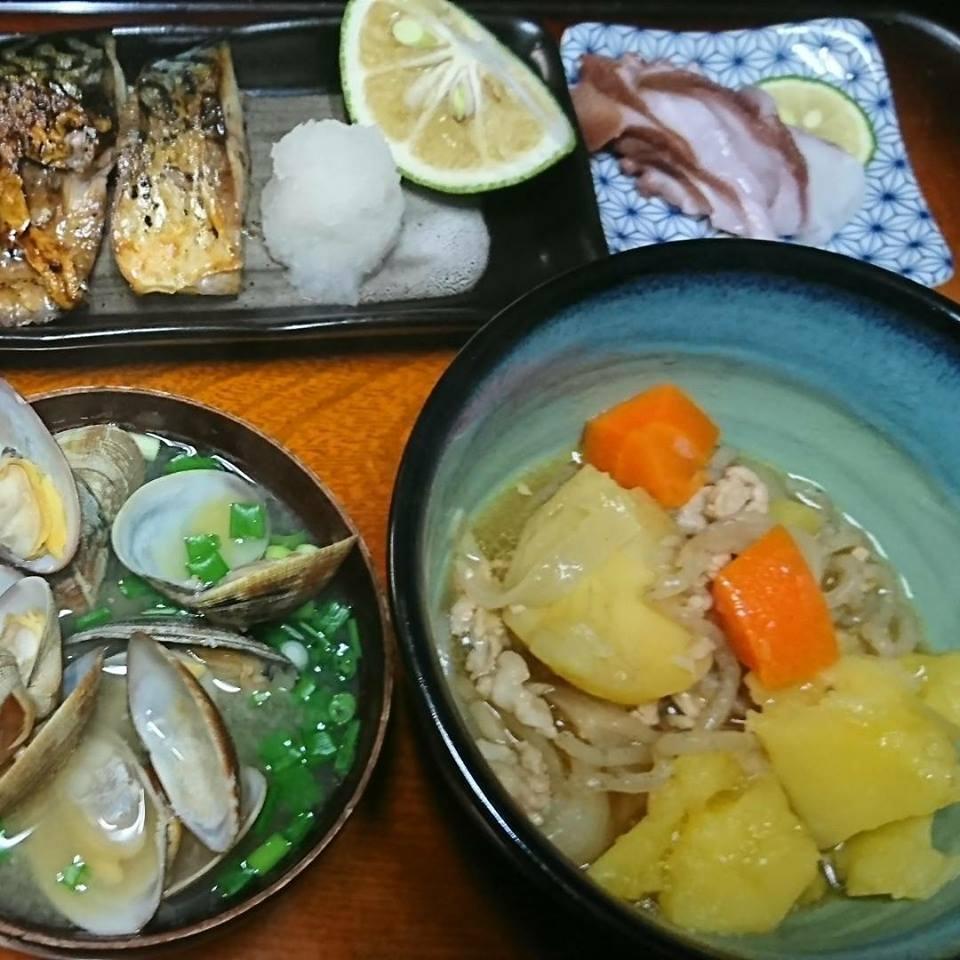 「青紫蘇の実の塩漬け」作り「柿ジャム」作りと、栗の渋皮煮の販売開始。_a0125419_06495153.jpg