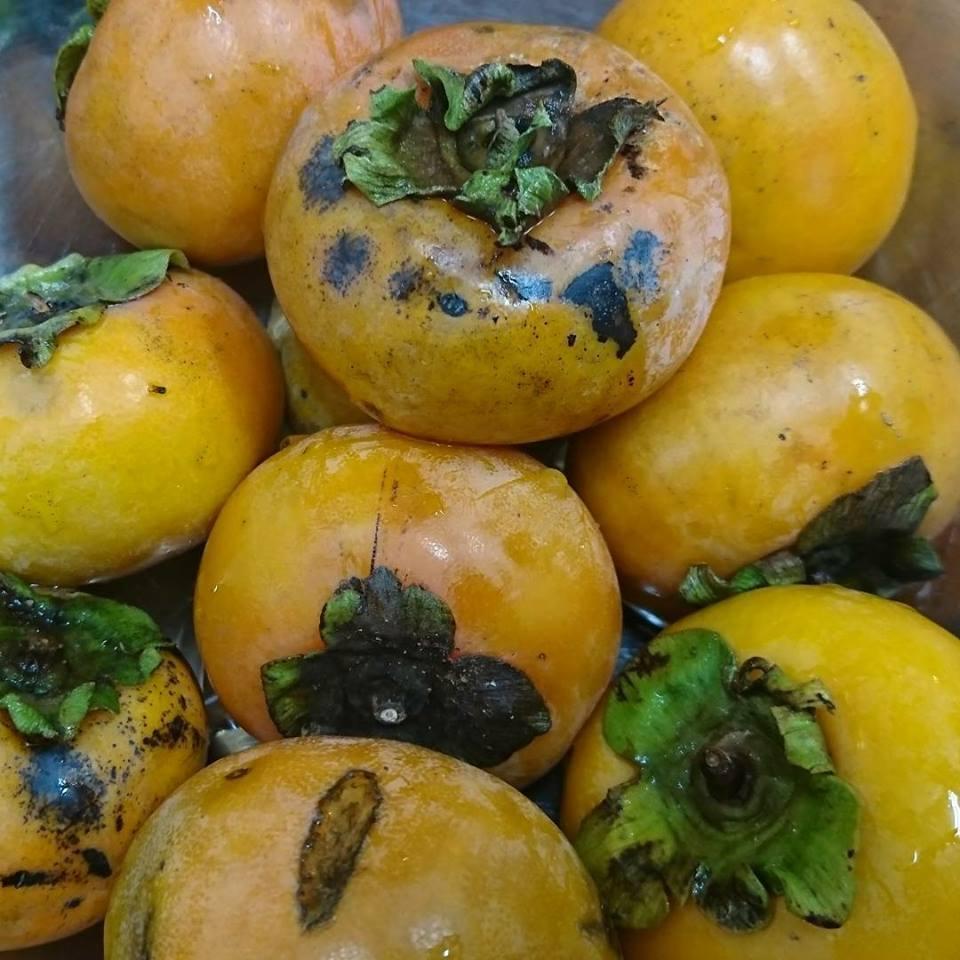 「青紫蘇の実の塩漬け」作り「柿ジャム」作りと、栗の渋皮煮の販売開始。_a0125419_07065340.jpg