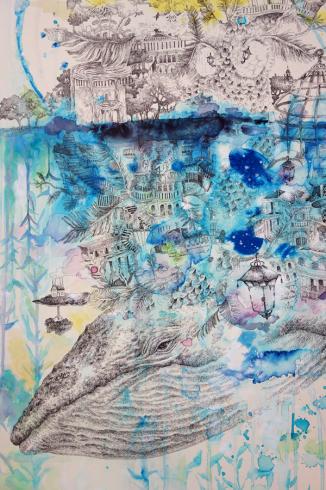 【氏峯麻里作品展〜Albireo-星の追憶】鯨のみる長い長い夢を聴く_a0017350_05521404.jpg