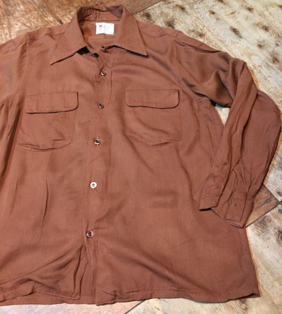 10月9日(月)入荷! 50s Rayon オープンカラー(開襟 )shirts!_c0144020_16081569.jpg