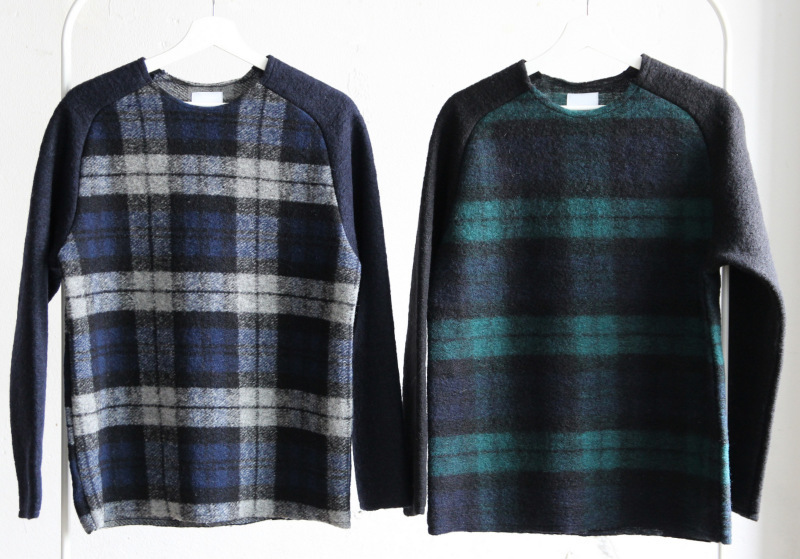 Middle Gauge Wool Airy Knit (Check)_c0379477_09265513.jpg