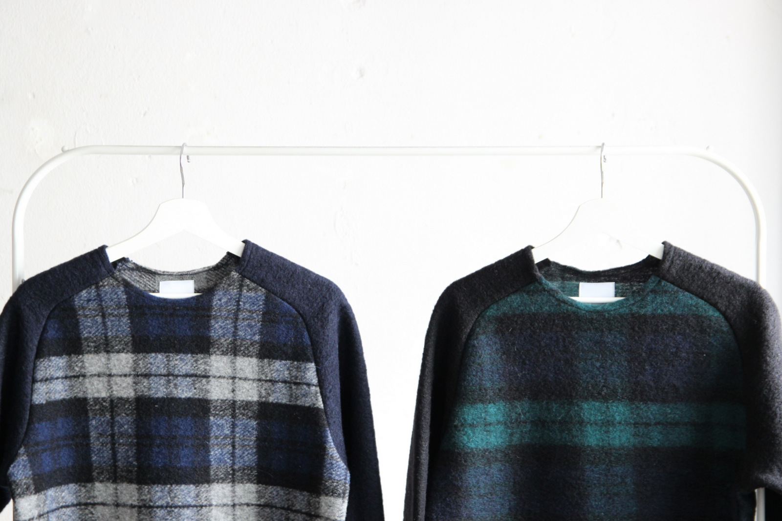 Middle Gauge Wool Airy Knit (Check)_c0379477_09323232.jpg