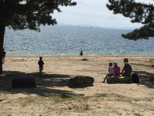 たらい舟に乗ってみよう! in近江舞子内湖_e0008880_10290003.jpg