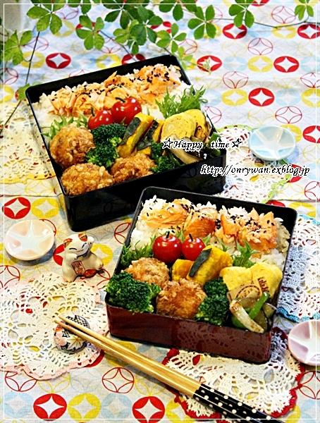 鮭ほぐしのっけて弁当と今週の作りおき♪_f0348032_18045862.jpg