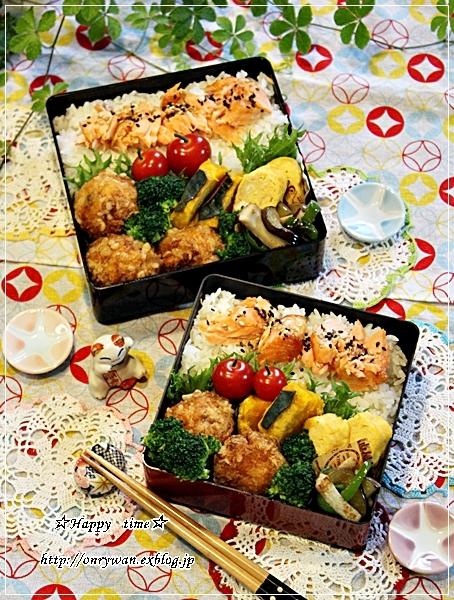 鮭ほぐしのっけて弁当と今週の作りおき♪_f0348032_18051018.jpg