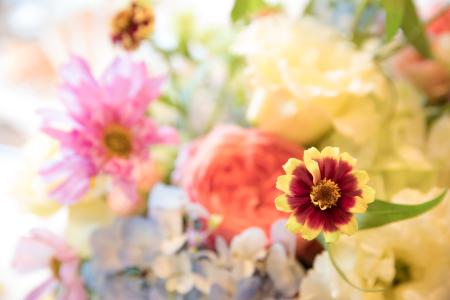 秋の会場装花 如水会館様へ、コスモスとりんごとバスケット_a0042928_12354465.jpg