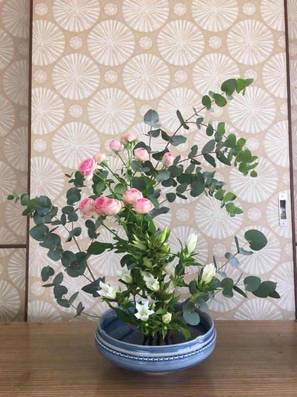 秋のお茶花と生け花のお稽古_c0195496_18425843.jpg