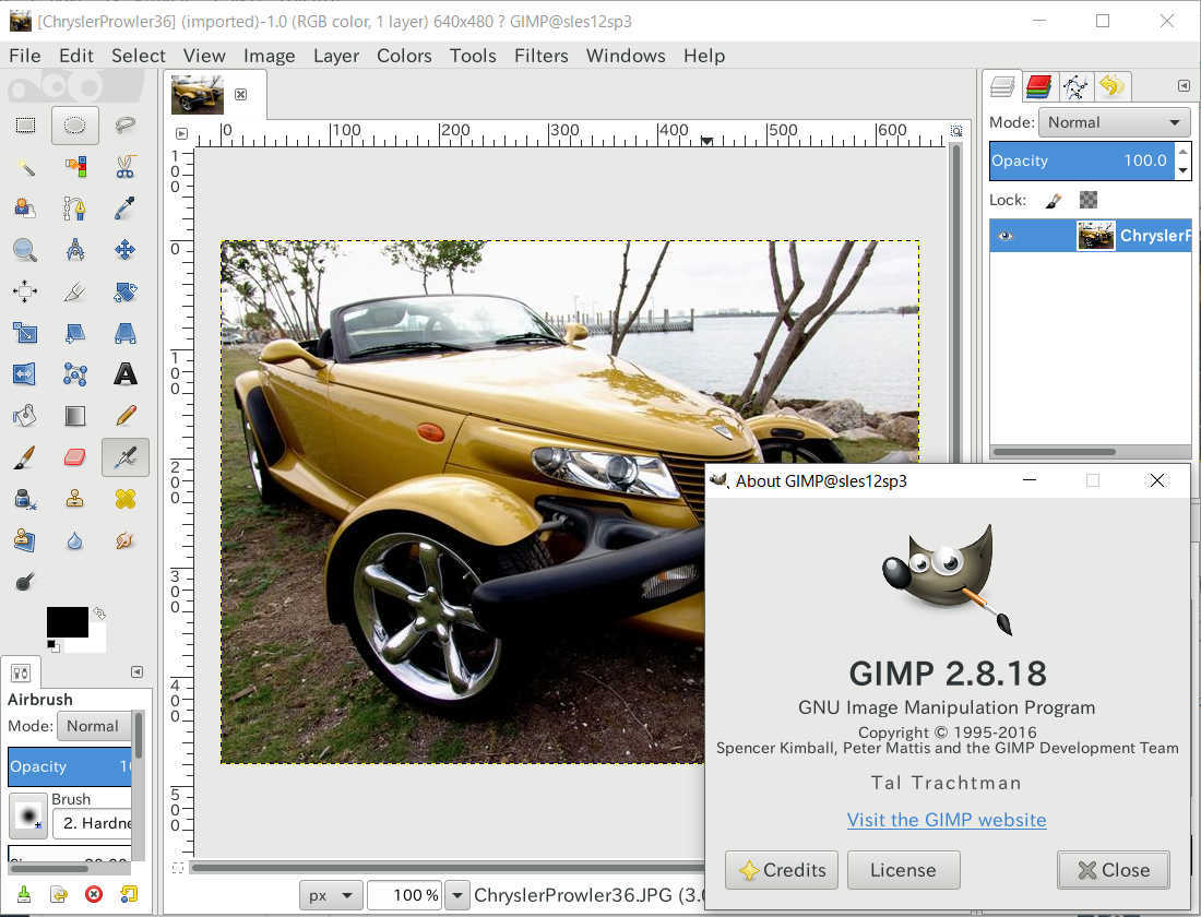 SUSE Linux Enterprise Workstation Extension (LibreOffice,gimp) を SLES で使う_a0056607_20054258.jpg
