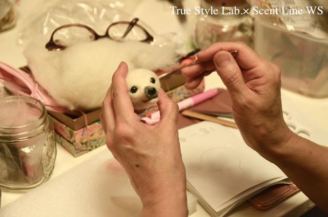 羊毛フェルトWS「マルチーズの子犬」レポート3_c0099133_06593423.jpg