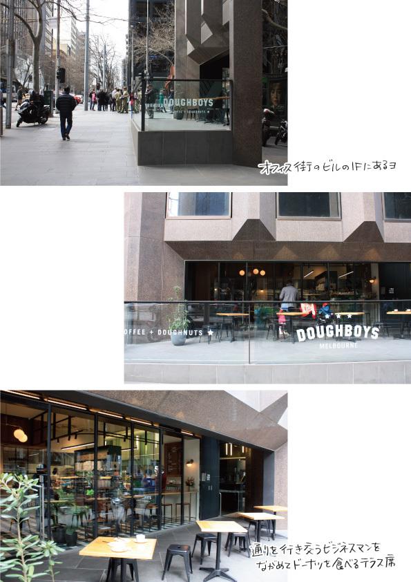【メルボルンドーナツ旅:その1】DOUGHBOYS COFFEE+DOUGHNUTS【オフィス街の洗練されたドーナツ】_d0272182_19181838.jpg