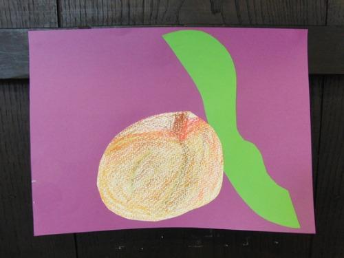 オイルパステル画 ~ 林檎の量感画 ~_e0222340_15505274.jpg
