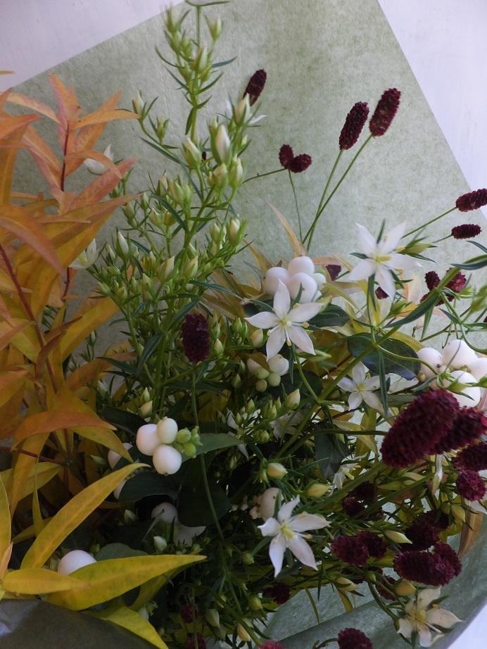 オークリーフ(秋の草花と実物の花束)_f0049672_16412309.jpg