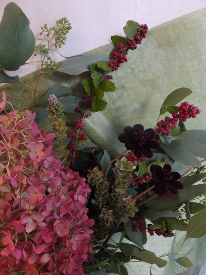 オークリーフ(秋の草花と実物の花束)_f0049672_16413904.jpg