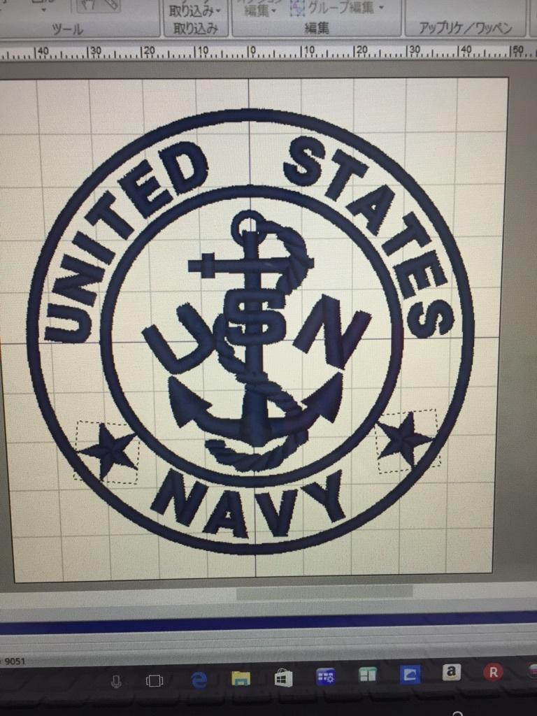 U.S  NAVY   ワッペン製作(^O^)_a0370893_12254300.jpg