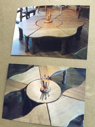 六角形テーブル 一辺700×H720_e0072513_12092856.jpg