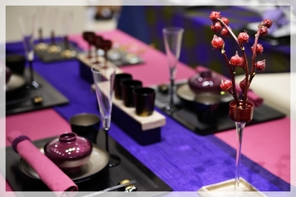 カラーで演出するテーブル・パープル♪ ~ブラッシュアップクラス_d0217944_11144392.jpg