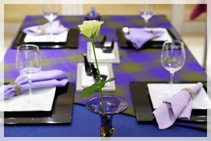 カラーで演出するテーブル・パープル♪ ~ブラッシュアップクラス_d0217944_11153877.jpg