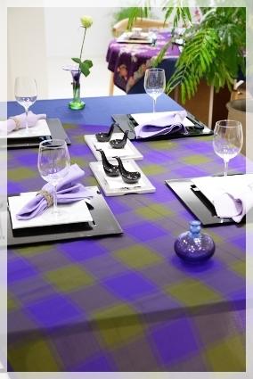 カラーで演出するテーブル・パープル♪ ~ブラッシュアップクラス_d0217944_11155906.jpg